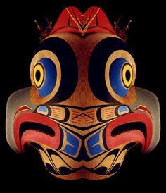 Masque de hibou Kwakiutl. Colombie Britanique, Canada