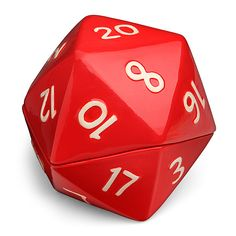 ThinkGeek has created a lovely bowl set shaped like a d20 die. The ceramic set is actually two bowls that interlock to form a whole d20 die, with the bottom half being slightly smaller than the oth...