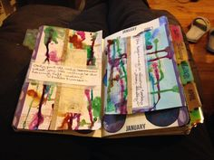 My week 2 DLP challenge using gesso and the Mary Shelley quote/prompt