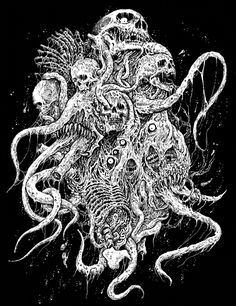 by Mark Riddick Death Metal, Dark Artwork, Metal Artwork, Arte Punk, Arte Ninja, Heavy Metal Art, Dark Art Illustrations, Satanic Art, Evil Art