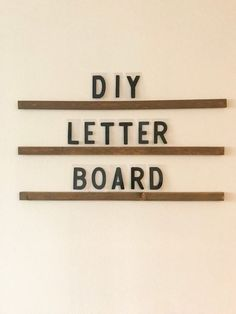 Create your own giant letter board with this easy tutorial requiring no powertools! This is my favorite DIY project to date! Giant Letters, Plastic Letters, Plastic Signs, Diy Letters, Diy House Projects, Diy Wood Projects, Diy Letter Board, Cool Lettering, Staff Lounge