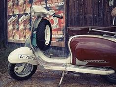 "My 1964 #Lambretta #LI150 Series 2, ""spanish winter model"" with turning mudguard. Engine: #TS1."