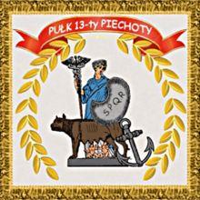 Sztandar Pułku 13. Piechoty - 13 Pułk Piechoty (Księstwo Warszawskie) – Wikipedia, wolna encyklopedia