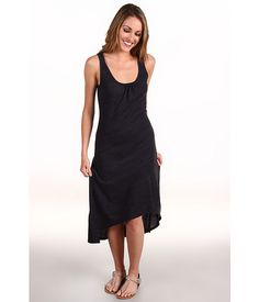 6pm || C CALIFORNIA High-Low Tank Dress || #candccalifornia #black #highlow