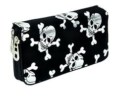 Silver Skull and Crossbones Women's Wallet with Wristlet Strap Dysfunctional Doll http://www.amazon.com/dp/B00TT7S0WK/ref=cm_sw_r_pi_dp_pJljvb0TEV5GN