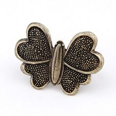 Vintage Style Butterfly Double Finger Ring $7.79