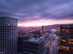 """This shot was not part of a project I did near Basel SBB the railway station. While I have my drone in the air I cannot resist to now and then look around. So you are looking at a """"byproduct"""" of this sidetracking. Basel, Image Shows, Skyscraper, Sunrise, Glow, Shots, Tower, Park, World"""