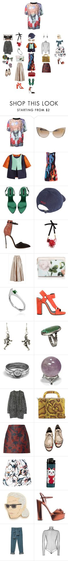 """Untitled #2755"" by duumbblond ❤ liked on Polyvore featuring Roberto Piqueras, Tom Ford, Oscar de la Renta, Zara, Polo Ralph Lauren, Casadei, Matthew Williamson, Ted Baker, Delfina Delettrez and Pierre Hardy"