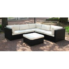 Outdoor Furniture Sectional Sofa Set With Cushions Chair Lounge Garden
