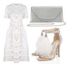 """Untitled #2595"" by fiirework ❤ liked on Polyvore featuring M&Co, Alexis and Jimmy Choo"