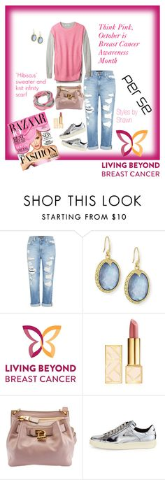 """THINK """"HIBISCUS"""" Pink For Breast Cancer Awareness by shawn-evans on Polyvore featuring Genetic Denim, Soma, Tom Ford, Armenta, Tory Burch and By Terry"""