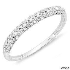 14k Gold 1/10ct TDW Diamond Wedding Band
