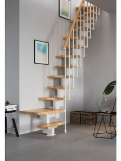 Space saving stairs from Premier Loft Ladders. The Compatta space saving staircase is an an easy to install modular system offering high quality and style Home, Basement Decor, Basement Remodeling, Small Staircase, Space Saver Staircase, Loft Room, Loft Spaces, Loft Staircase, Space Saving Staircase