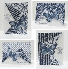 Peekaboo Pullback Card | Watercolor Wings butterfly, Floral Boutique DSP