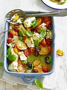 Baked feta is a traditional Greek dish which makes a great vegetarian starter, this easy recipe from Jamie Oliver pairs fresh tomatoes with…