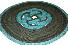 21 Inch Diameter Rope Rug Green Nautical Mat by AlaskaRugCompany, $165.00
