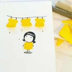 I need a new cloth probably pretty yellow one . -monimono- . . .  #daily #illustration#paperart#cloth#artwork#art#graphicdesign#일러스트 #yellow#characterdesign#イラスト#캐릭터#graphicdesigner#art#illustrator#illust#handdrawing#그림스타그램#etsy#휴일 #데일리#일상#빨래#doodle#cute#illustagram#infographic#소품#artprint#instagood#picame