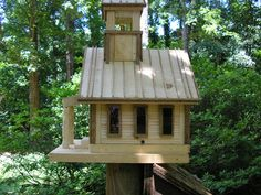 This is an unfinished beautifully crafted birdhouse made out of pine wood. This Birdhouse can be left as is in its beautiful unfinished state or