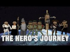The Hero's Journey as Explained by Puppets: GloveandBoots explain Joseph Campbell's famous theory. British Literature, Teaching Literature, World Literature, Teaching Reading, Teaching Tools, Teaching Resources, Learning, Screenwriting Books, 8th Grade Ela