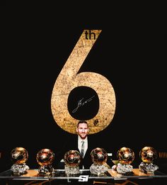 Leo Messi with his six Ballon d'Or won! Cr7 Messi, Messi Fans, Messi Soccer, Messi And Ronaldo, Messi 10, Cristiano Ronaldo, Fc Barcelona Wallpapers, Madrid Wallpaper, Lionel Messi Barcelona