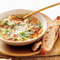 Vegetable Soup with Fennel, Herbs and Parmesan Broth  | Food & Wine