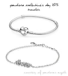 A sneak peek at two bracelets from the Pandora Valentine's Day 2015 collection!