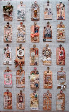 Altered art tags vintage style sweet!