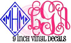 9 inch solid chevron or glitter vinyl decal by BoutiqueBarbier, $15.00