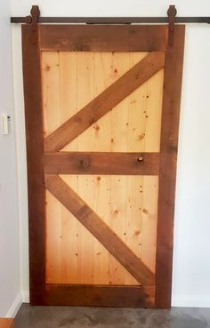 Recycled Oregon timber barn door. Interior sliding barn door. Timber Revival, Melbourne. Made in Melbourne, shipped nationally around Australia. #barndoor #timberbarndoor #recycledtimberdoor #timberdoor