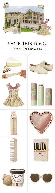 """""""24,000 ft Mansion"""" by thisrandomusername ❤ liked on Polyvore featuring Oxford, Pixi, Lancôme, Too Faced Cosmetics, HAY, French Girl, Olympia Le-Tan, RETROSPECS and Hot Topic"""