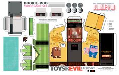 dookie paper arcade set - my next papercraft project will be an arcade game cabinet =)