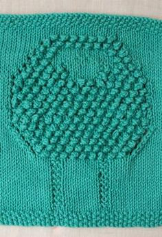 Free Knitting Pattern - Dishcloths Washcloths : Sheep Scrubby Dishcloth