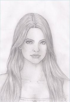 Pencil Sketches of People | Shelley Hennig Pencil sketch by TomKings