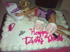 dirty thirty birthday | 30th birthday cake / dirty 30 | My inner party planner