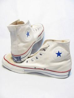 5764f32c17de Details about vintage DEADSTOCK 60s RARE CONVERSE USA WHITE CHUCK TAYLOR ALL  STARS SHOES 9.5