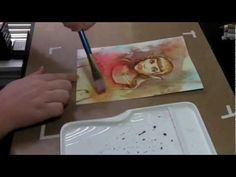 Distress Ink drawing and painting illustration demo.  #distressink #timholtz