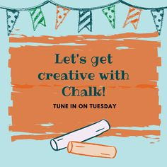 Come learn some creative ways to play with chalk on this episode of Tune in on Tuesdays!