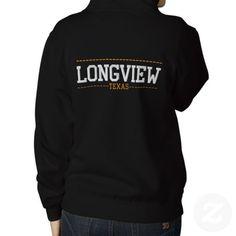 Longview Texas USA Embroidered Women's Zip Hoodies