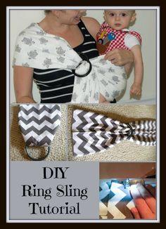 DIY Ring Sling Tutorial, minimal sewing, knit fabric