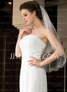 Wedding Veils - $18.69 - Two-tier Elbow Bridal Veils With Finished Edge (006036620) http://jjshouse.com/Two-Tier-Elbow-Bridal-Veils-With-Finished-Edge-006036620-g36620