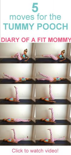 5 Moves for the Lower Tummy Pooch! I love this ab workout. Great for postpartum belly after pregnancy.