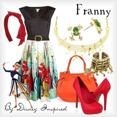 Franny from Meet the Robinsons. I would actually wear this it's really pretty!