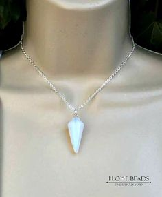 Opalite necklace-opalite pendant on sterling silver necklace-moonstone necklace-opal necklace-opalite necklaces-opalite jewelry