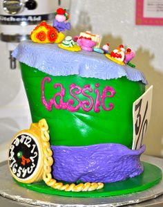 Leah's Sweet Treats: Mad Hatter Birthday Cake