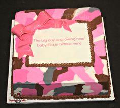 Welcome baby pink camo cake Camo Baby Cake, Pink Camo Baby, Camo Baby Stuff, Baby Shower Cakes, Baby Shower Gifts, Baby Gifts, Camo Birthday Cakes, Birthday Ideas, Cake Design Inspiration