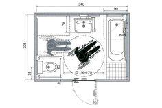 Dimensions: bathroom for wheelchair access Ada Bathroom, Bathroom Plans, Bathrooms, Hotel Floor Plan, House Floor Plans, Disabled Bathroom, Johnson House, Hotel Room Design, Floor Plan Layout