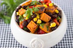 sweet potatoes black bean salad | simple healthy kitchen