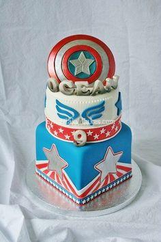 Captain America Cake Pan L turns 3 Pinterest Captain america