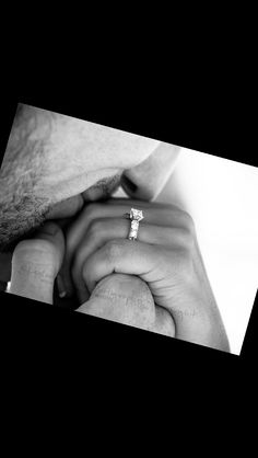 I love this photo idea for an engagement shot! It's sweet and tender and it shows off her ring...