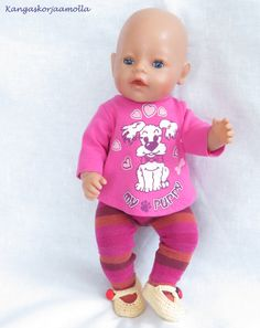 Ompele Baby Bornille Sissi, Baby Born, Barbie Clothes, Onesies, Couture, Dolls, Patterns, Creative, Fashion